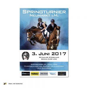 """Referenzen kreativbiene: Plakat Springturnier """"URFV Neumarkt"""""""