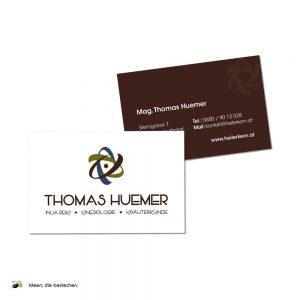 "Referenzen kreativbiene: Logo, Visitenkarten & Aufkleber ""Thomas Huemer"""