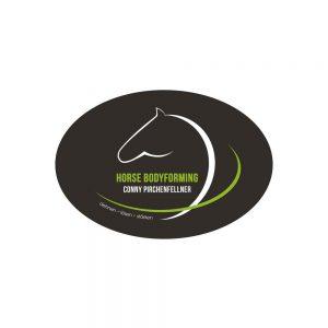 "Referenzen kreativbiene: Logo ""Conny Pirchenfellner - Horse Bodyforming"""