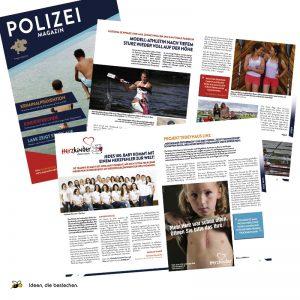 """Referenzen kreativbiene: Layout, Satz und Reinzeichnung """"Polizei Magazin OÖ"""""""