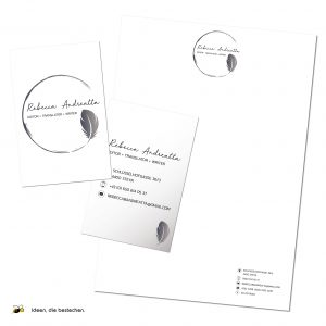 "Referenzen Kreativbiene: Corporate Design (Logo, Visitenkarten, Briefpapier) ""Rebecca Andreatta"""