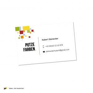 """Referenzen kreativbiene: Visitenkarten """"Hubert Steinecker"""""""