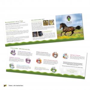 Referenzen kreativbiene: Folder, Kreativmanagement, grafische Betreuung