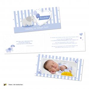 Referenzen kreativbiene: Taufeinladungen und Taufhefte für meinen Neffen