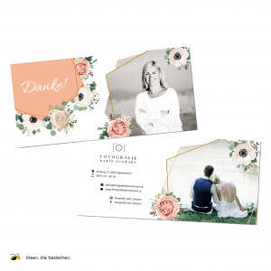 "Referenzen kreativbiene: Dankeskarten ""Fotografie Karin Schwarz"""