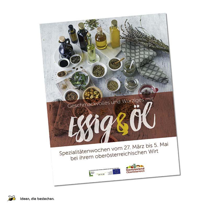 """Referenzen kreativbiene: Plakat """"OÖ Genussland"""""""