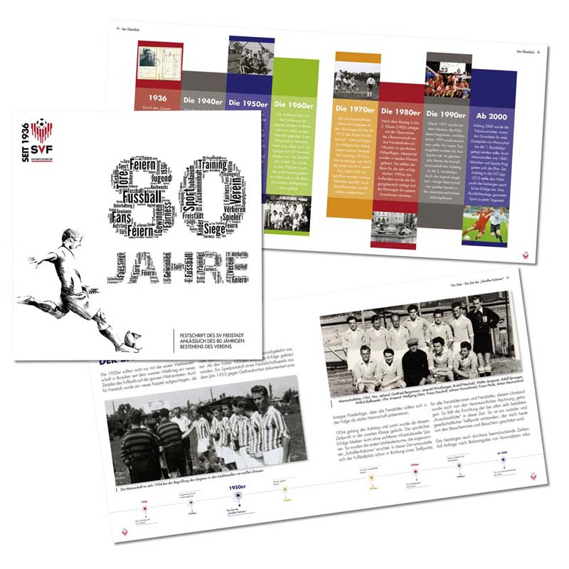 """Referenzen kreativbiene: Festschrift """"80 SV Freistadt"""""""