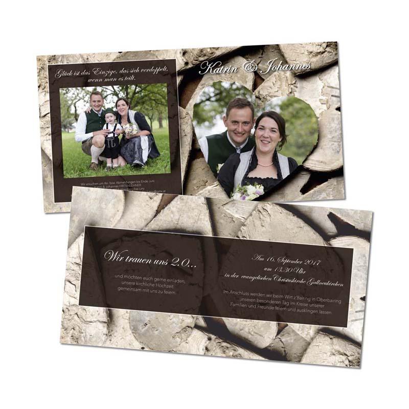 Referenzen kreativbiene: Hochzeitseinladung