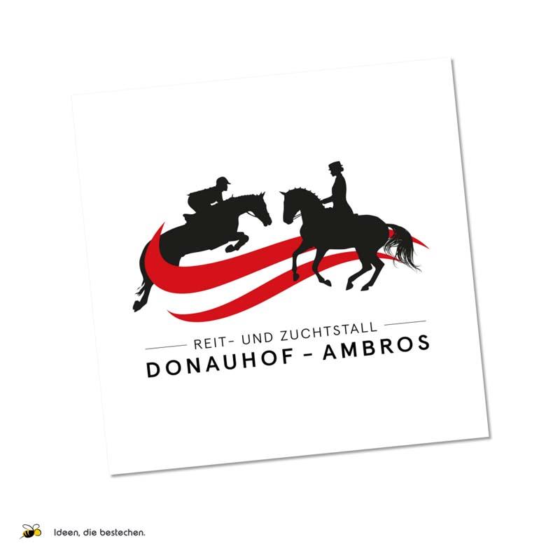 """Referenzen kreativbiene: Logo """"Reit- und Zuchtstall Donauhof-Ambros"""""""