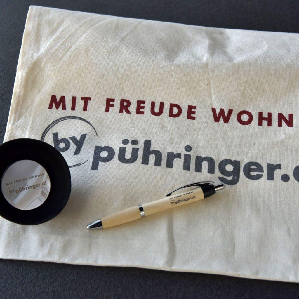 Referenzen kreativbiene: Werbemittel Tischlerei Pühringer