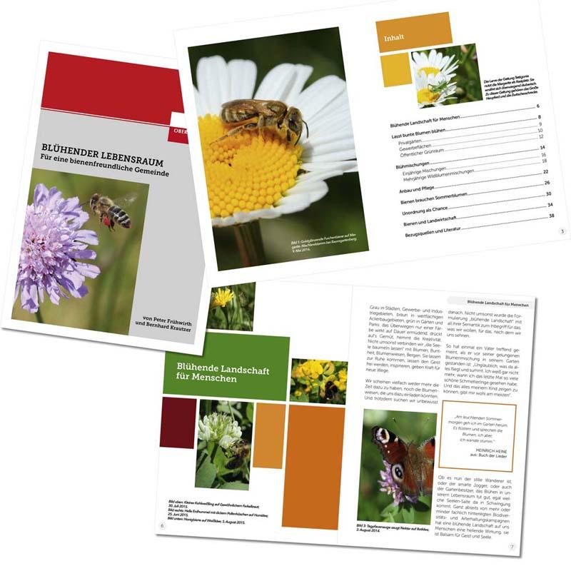 """Referenzen kreativbiene: Broschüre """"Blühender Lebensraum"""" (Land OÖ)"""