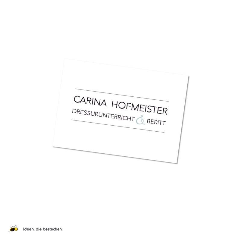 """Referenzen kreativbiene: Schriftzug und Website """"Carina Hofmeister"""""""