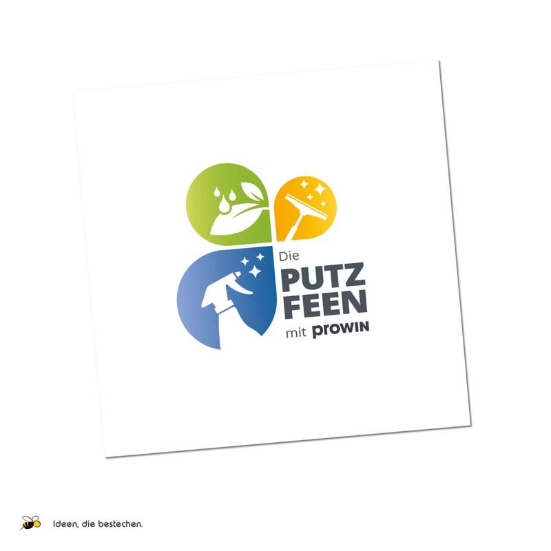 """Referenzen kreativbiene: Werbekonzept, Strategieentwicklung, Namensfindung, Logo, div. Drucksorten """"Die Putzfeen"""""""