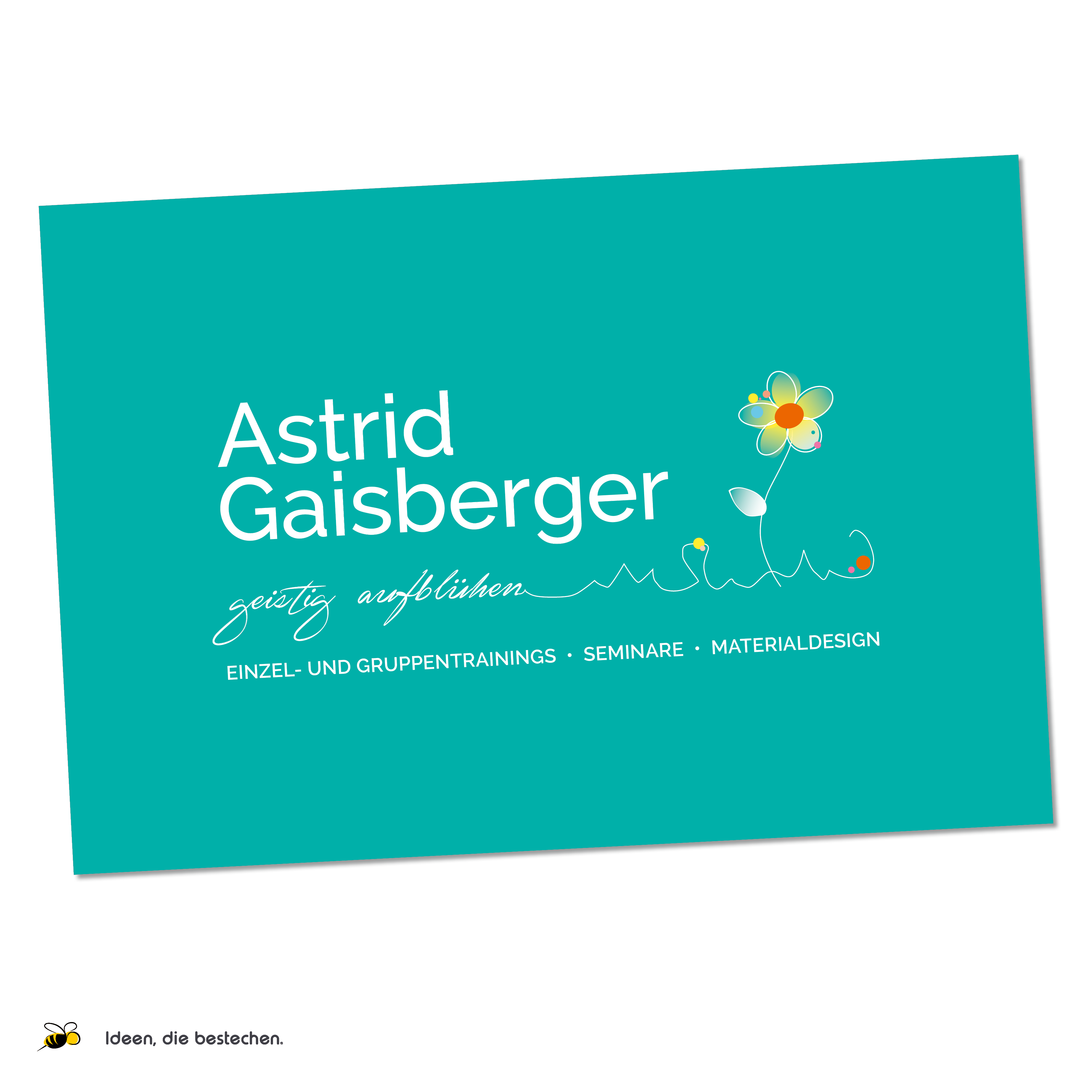 Referenzen kreativbiene: Corporate Design Astrid Gaisberger - geistig aufblühen