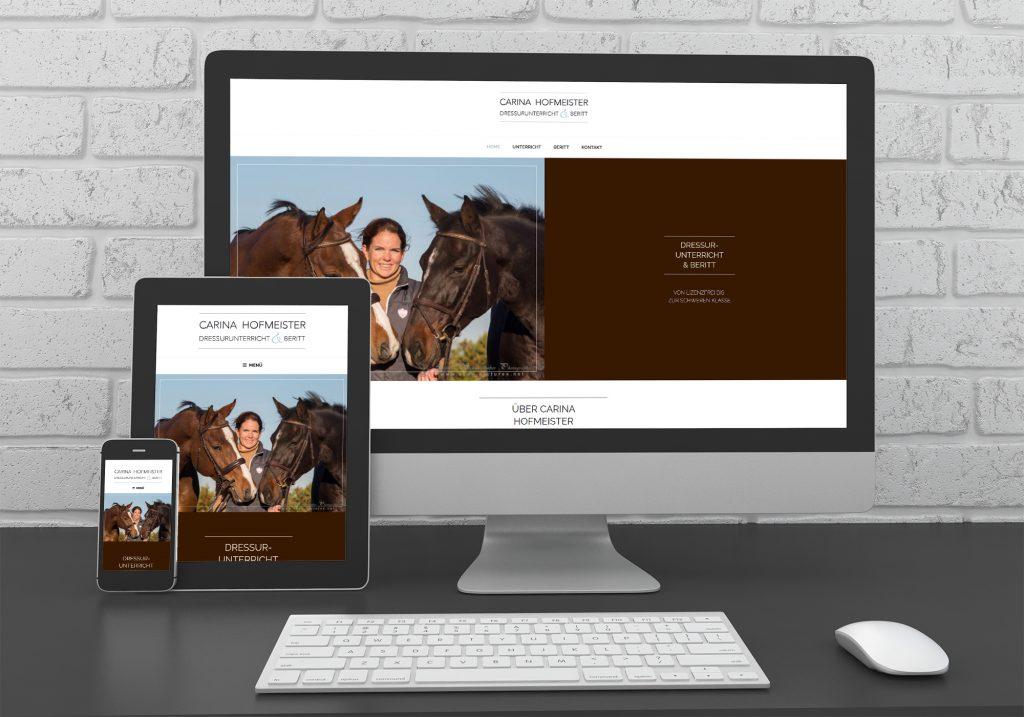 "Referenzen kreativbiene: Webdesign ""Carina Hofmeister"""