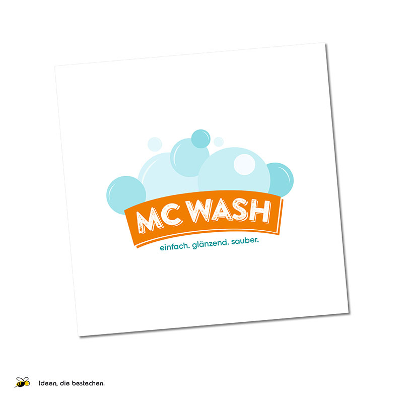 "Referenzen kreativbiene: Logo & Corporate Design (Drucksorten), Website ""MC WASH"""