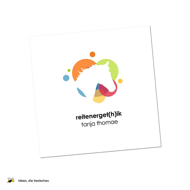 """Referenzen kreativbiene: Markenaufbau & Logoentwicklung """"Reitenerget(h)ik Tanja Thomae"""""""