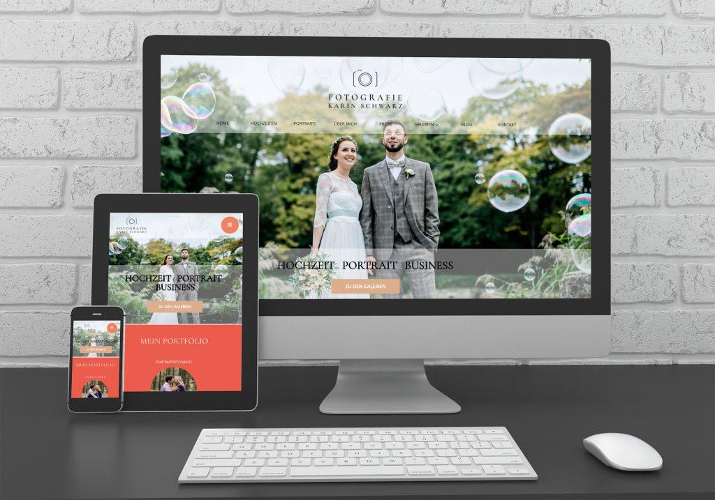 """Referenzen kreativbiene: Webdesign """"Fotografie Karin Schwarz"""""""