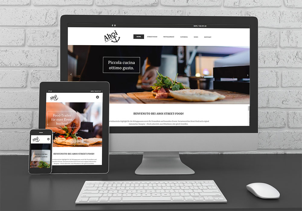 "Referenzen kreativbiene: Website ""Ahoi Street Food"""