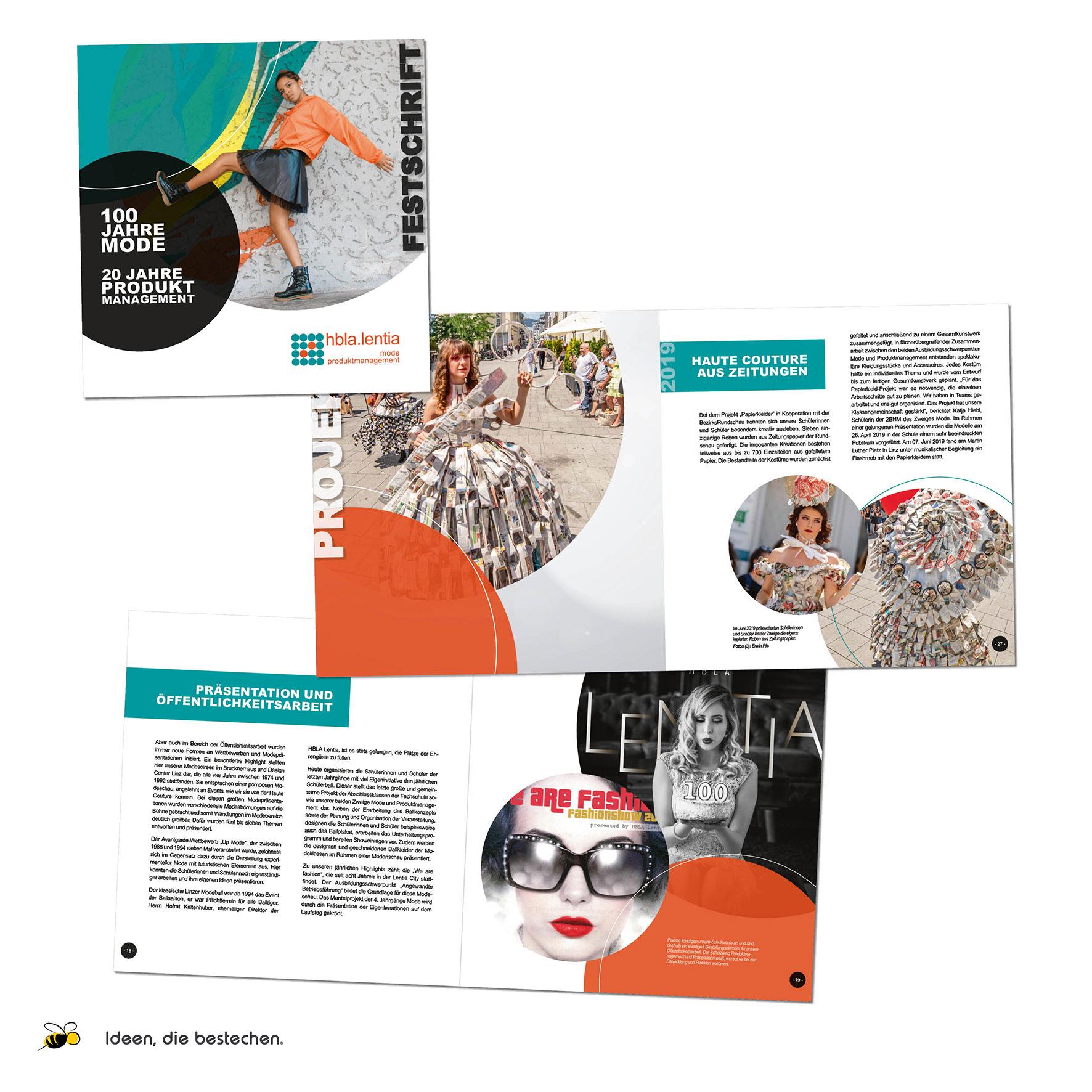 Referenzen kreativbiene: Festschrift HBLA Lentia