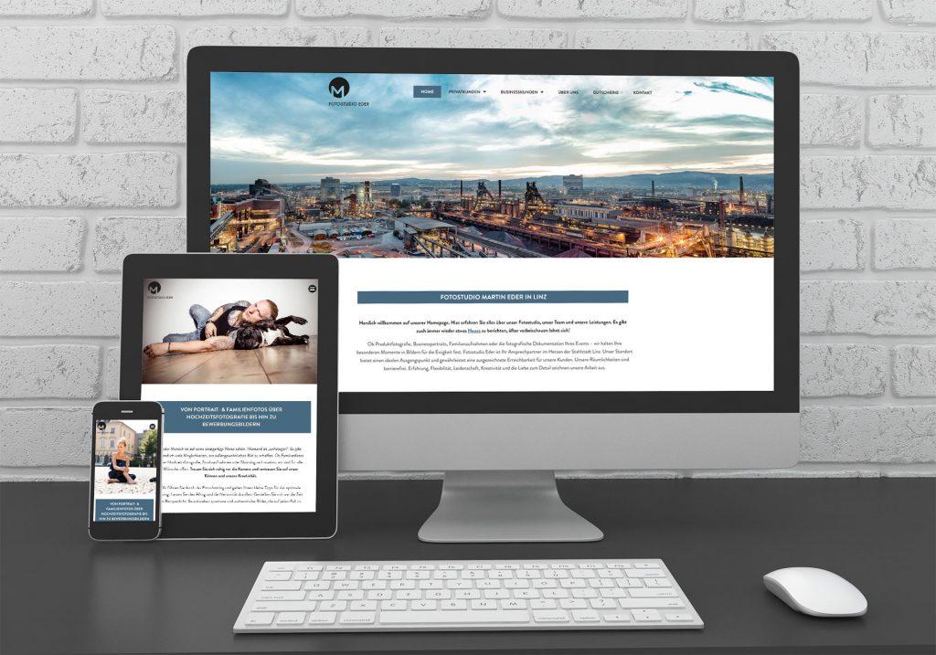 Referenzen kreativbiene - Homepage Foto Eder Linz