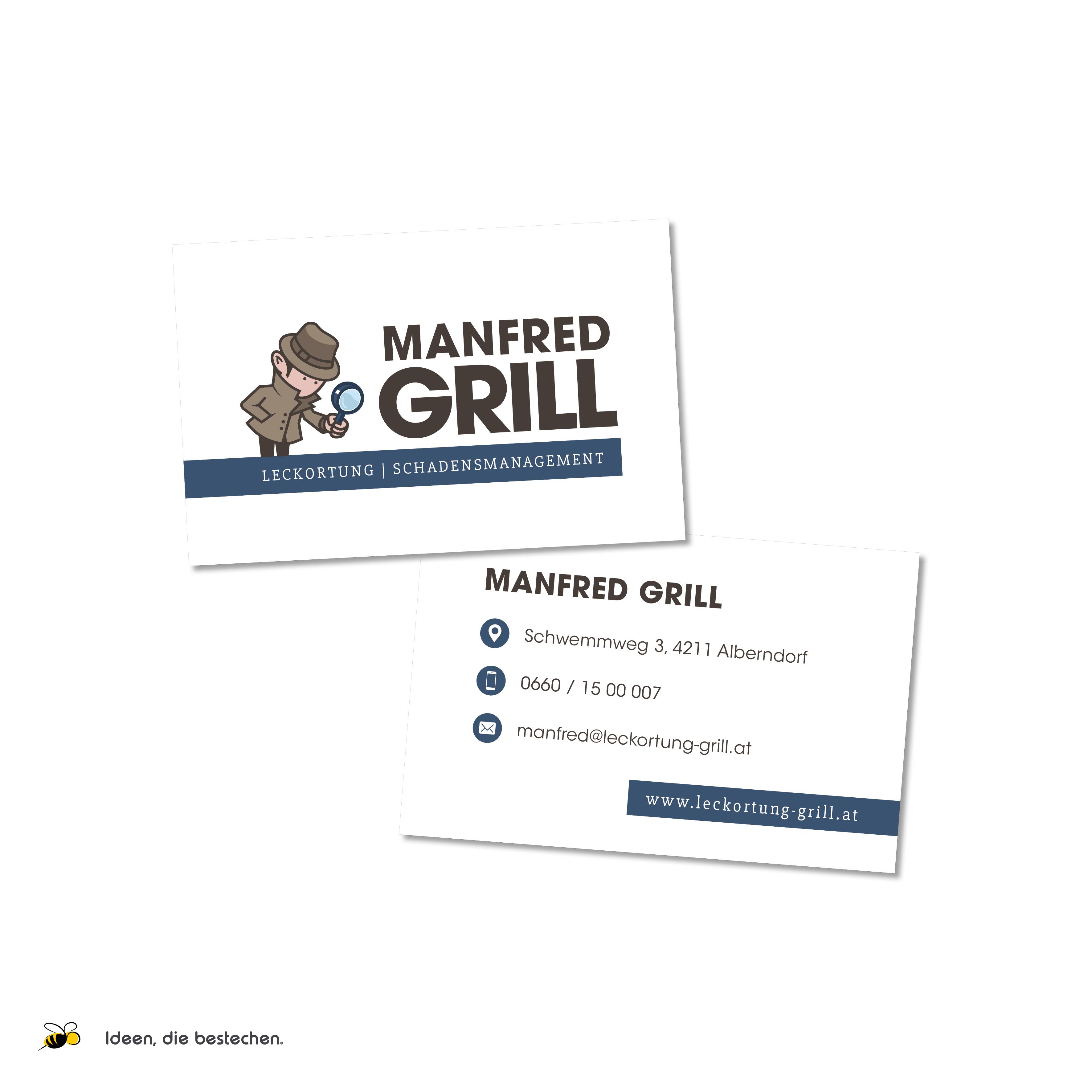 """Referenzen kreativbiene: Corporate Design """"Manfred Grill"""""""
