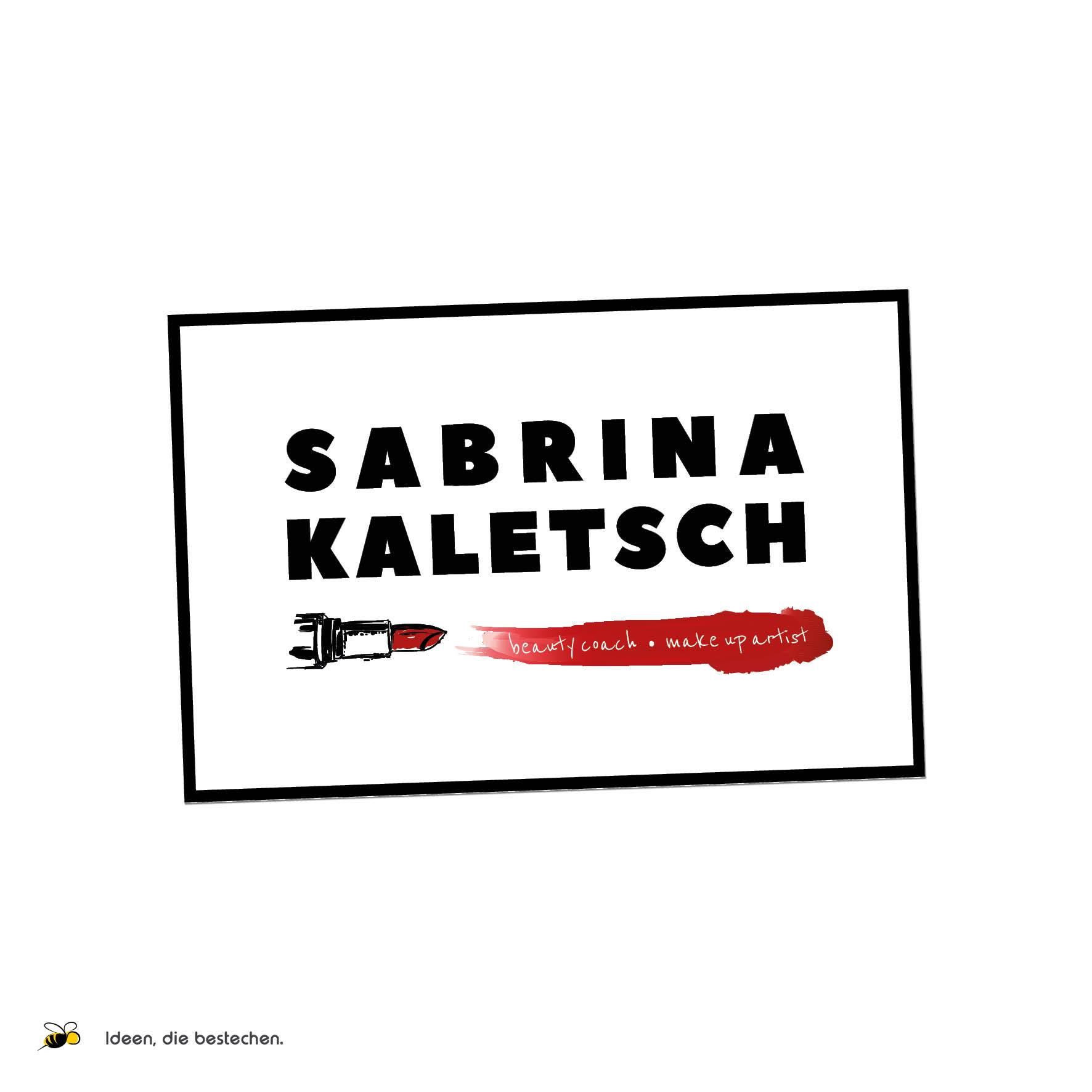 """Referenzen kreativbiene: Corporate Design """"Sabrina Kaletsch"""""""